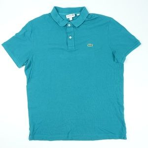 Green Teal Polo Rugby Short Sleeve Shirt